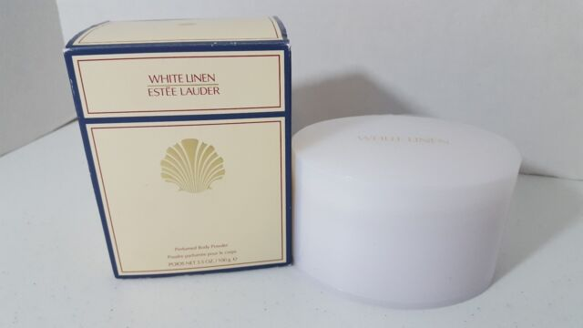 Estee Lauder White Linen Perfumed Body Powder With Puff - 100g/3.4oz NEW