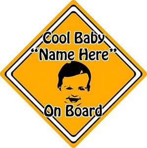 Personalised-Cool-Baby-Child-On-Board-Car-Sign-Baby-Face-Silhouette-Orange