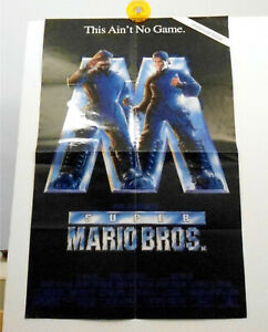 Super Mario Bros 11x17 Movie Poster Folded Ships Flat Ebay