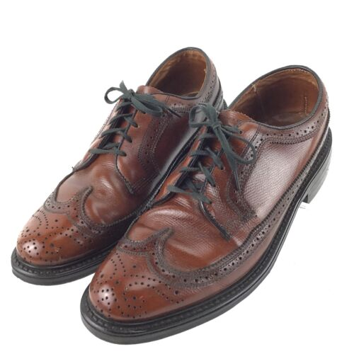 92ca6b779ce6 8 of 12 JC PENNY Shoe Classic Brown Leather Wingtip Brogue Oxford Mens 7.5  D Shoes R8S3