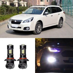 Canbus-H11-3030-21SMD-LED-DRL-Daytime-Running-Fog-Light-Bulbs-For-Subaru-Outback