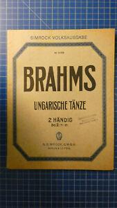 Brahms-Ungarische-Taenze-Band-2-Simrock-Volksausgabe-H-8193