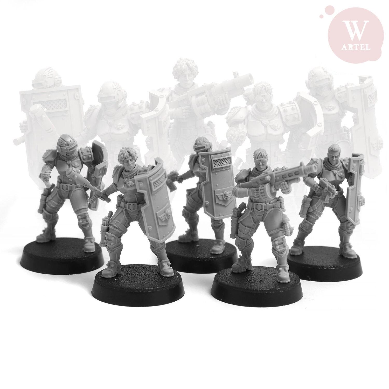 Leu   Riot Control Squad Artel   W   Miniatures Arbites