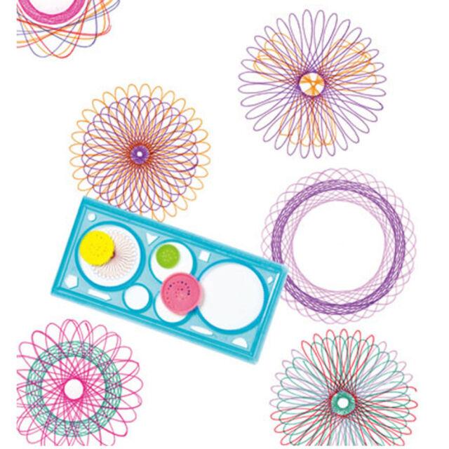 Trendy 1PC Spirograph Geometric Ruler Stencil Spiral Art Classic Toy Stationery