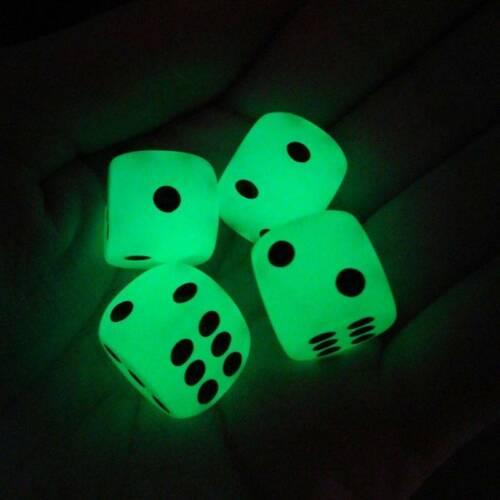 14MM Black Dot Noctilucent Dice Night 10 Pcs//bag Creative Game Bar Mini Dice HS3
