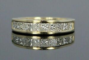 1-53Ct-Princess-Cut-Channel-Diamond-Wedding-Band-Solid-14K-Yellow-Gold