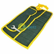 12 Pocket Canvas Tool Roll Wrench Spanner Tool Storage Bag Fold Pouch Stiched