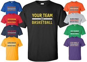 Custom basketball jersey t shirt with your team name size for Nba t shirt design