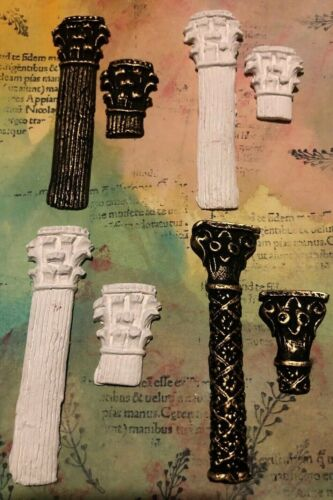 Options Art HANDMADE 6x Air Dry Clay Columns For Mixed Media,Cards,Journals