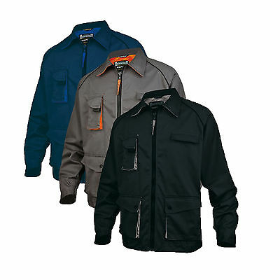 Delta Plus Work Wear Jacket Mens Lightweight Coat Drivers Uniform Top (M2VES)