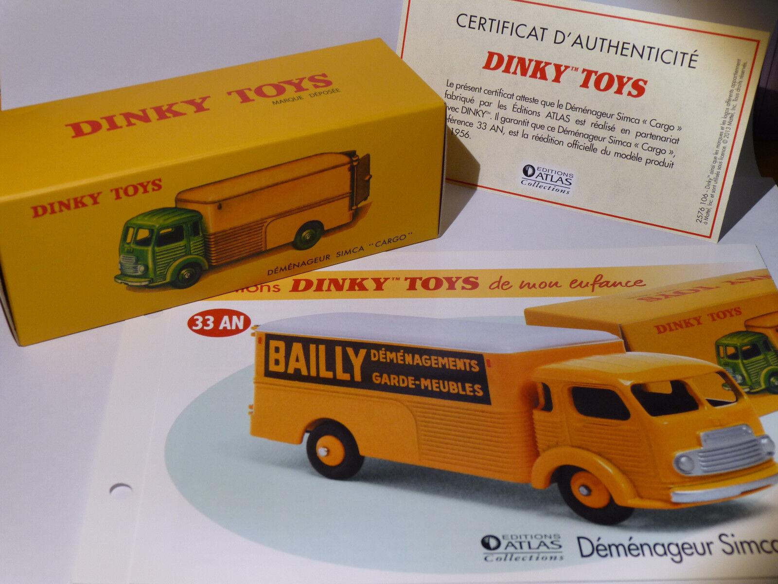 Camion Mover Simca Cargo   BAILLY   - rif. 33 ANNO   33AN di dinky toys atlas