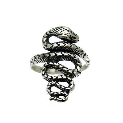 STERLING SILVER RING SNAKE SIZE 3.5 - 13 QUALITY SOLID 925 NEW
