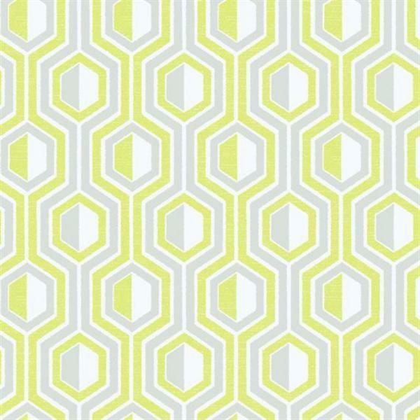 G56343 - Tempo Geometrisch Grün & Grau Galerie Tapete