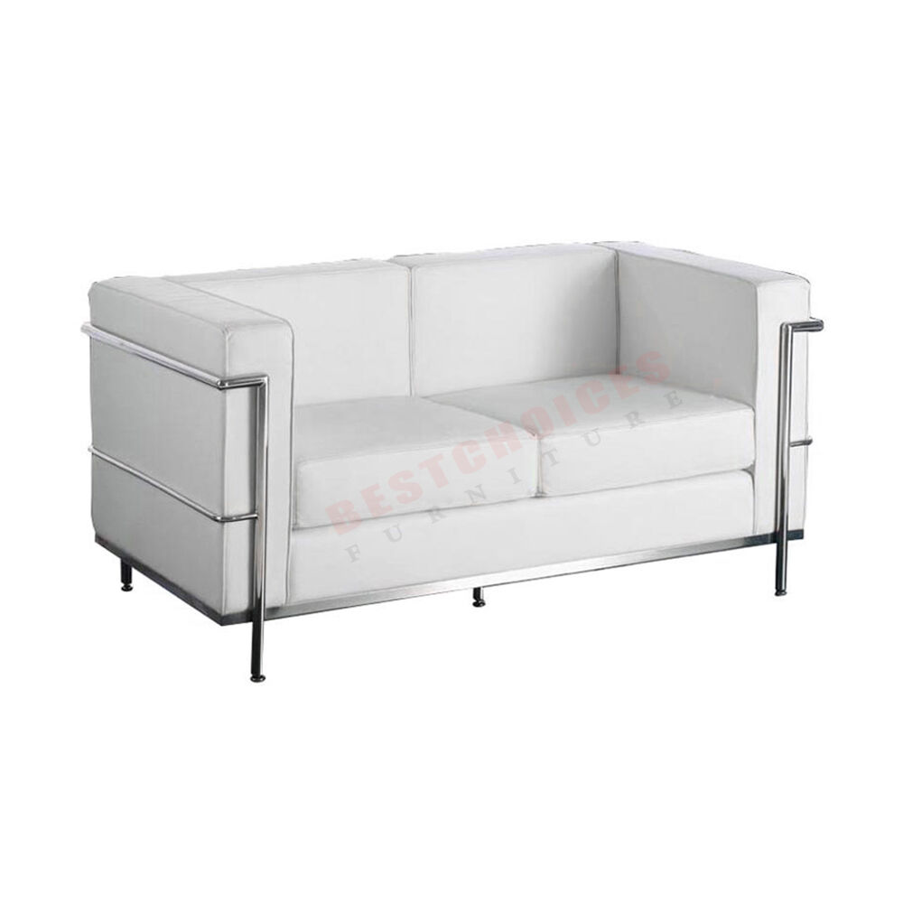 Wholesale Replica Le Corbusier 2 Seater Sofa Couch In Black Or White Leather Ebay