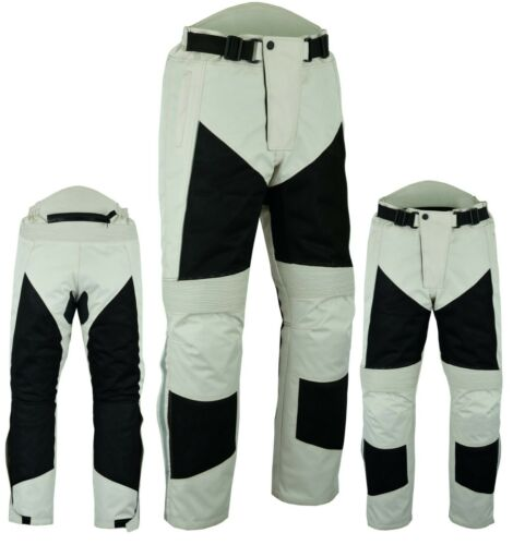 Warrior Motorcycle SUMMER MESH Waterproof Breathable Textile CE ARMOUR Trouser