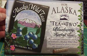 New-Alaska-Wild-Tea-Blueberry-Herbal-Tea-Postcard-Made-in-Alaska-Great-Gift