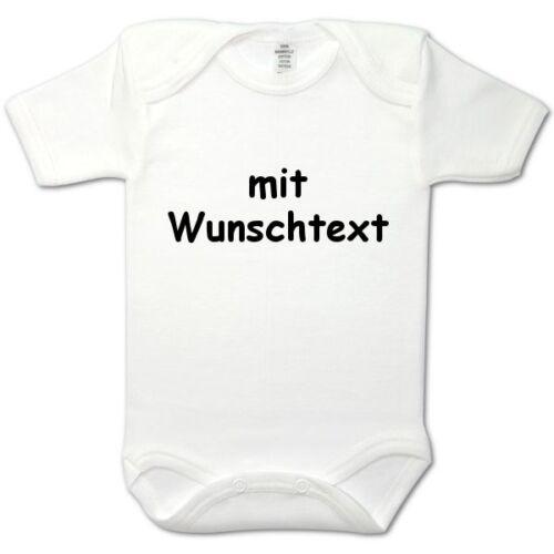 Baby-Body Imprimé Wunschname//texte blanc long 74//80