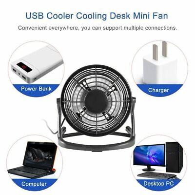 DC5V Mini USB Fan Cooler Portable Small Desk 4 Blades Fans Cooling C8L5