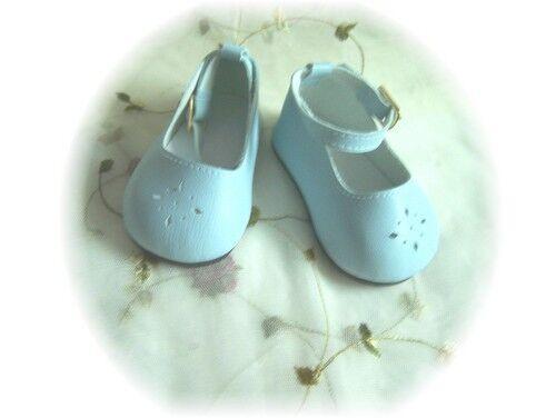 Blue  Ankle Strap Diamond Cut Shoes  85mm ~ Reborn Doll Supplies
