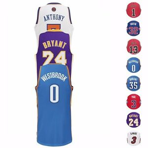 NBA-Stars-Revolution-30-Swingman-Team-Jersey-Collection-by-Adidas-Men-039-s