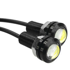 2 x 1.8Cm 3W 500-Lumen Waterproof LED Daytime Running Emitting - WHITE