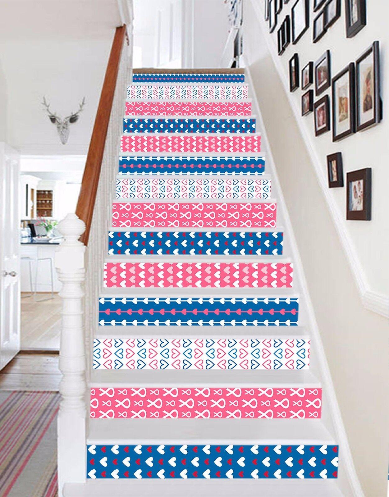 3D Diverse Muster 3 Stair Risers Dekoration Fototapete Vinyl Aufkleber Tapete DE