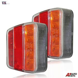 1 LED AUTOLAMPS 151BAR 12V Square Rear Combination Lamp Light Trailer Horsebox