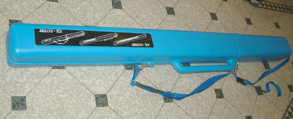 KIS Ski Tube Sportube S1 Ski Carrier Fishing Rod   Ski Case  Light Blau