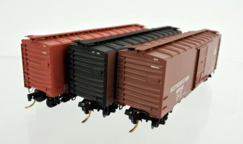 MICRO TRAINS N SCALE 20276-2 CHESSIE SYSTEM 40/' STANDARD BOXCAR 3-PACK