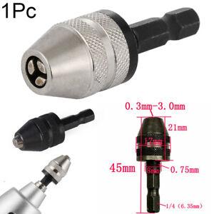 """New 1//4/""""  Keyless Drill Bit Chuck Quick Change Adapter Converter Hex Shank"""
