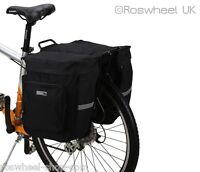ROSWHEEL 30L DOUBLE PANNIER LIGHTWEIGHT RACK BAG bike cycle bicycle UK 14154
