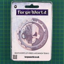Death Korps of Krieg Lascannon Team 3 Forge World 40K 0957