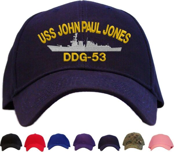 USS John Paul Jones DDG-53 Embroidered Baseball Cap - Available in 7 Colors  Hat 55f05111a2b0