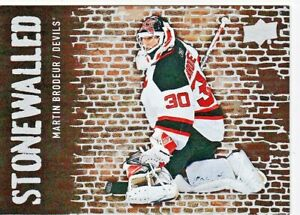 Martin-Brodeur-2018-19-Upper-Pont-Hockey-Cartes-a-Collectionner-Stonewalled