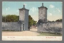 [50873] OLD POSTCARD OLD CITY GATE in St. AUGUSTINE, FLORIDA (UNDIVIDED BACK)