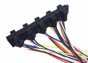 NEW 10pcs of 5 Pin Cable Wire Relay Socket Harness DC 12V for Auto Car