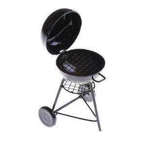 1-12-Dollhouse-Miniature-Black-BBQ-Grill-Dollhouse-Garden-Outdoor-Accessory-FE