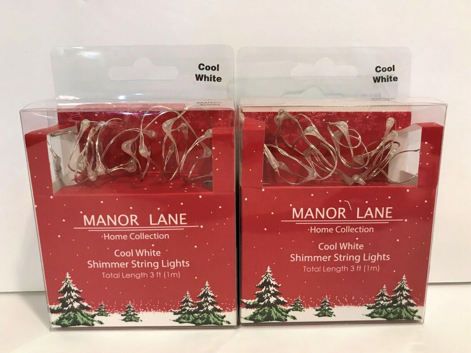 Manor Lane Home Collection Light Amber Shimmer String Lights 3 ft 1m