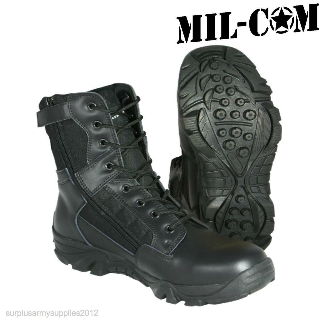 CLEARANCE PATROL  MIL-COM RECON BLACK LEATHER Stiefel ARMY SECURITY PATROL CLEARANCE  Herren UK 13 fca938