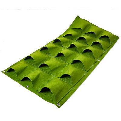 New 18 Pocket Vertical Greening Hang Wall Garden Seedling Plant Grow Bag Planter