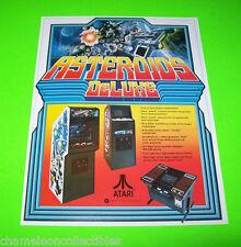 Atari ASTEROIDS Deluxe Original 1981 NOS Space Age Video Arcade Game Sales Flyer