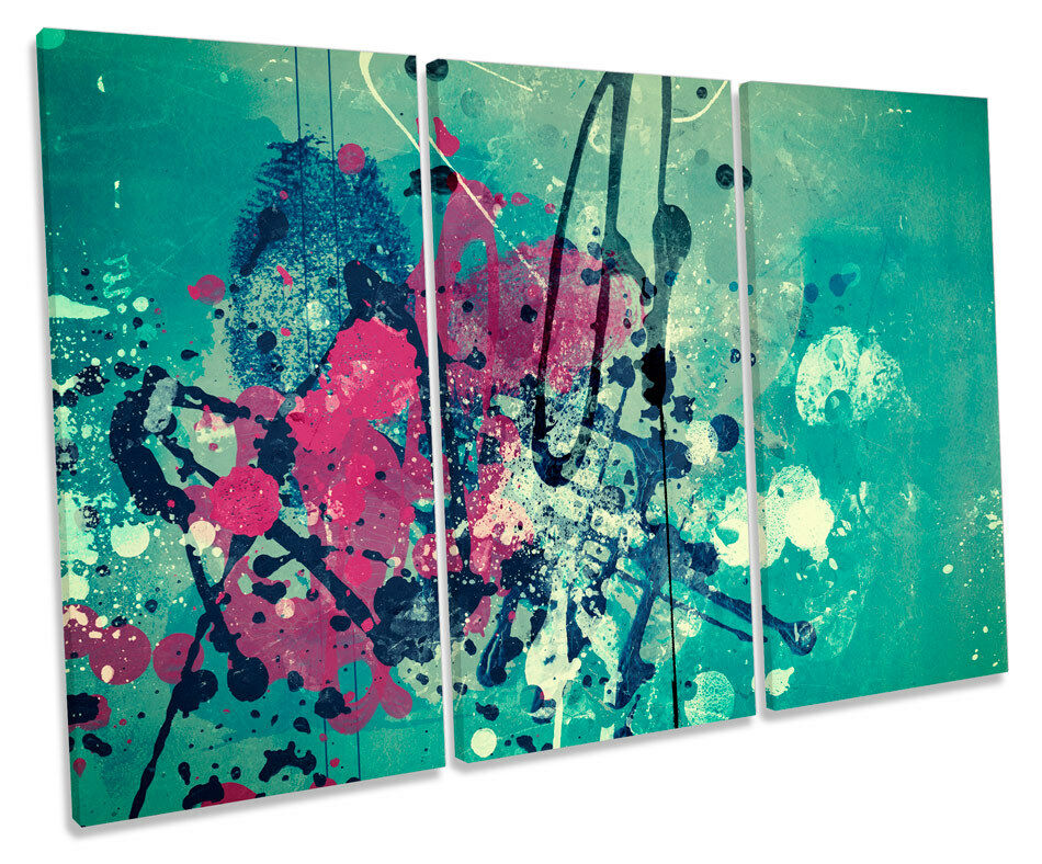 Grunge Modern Abstract Picture TREBLE CANVAS WALL ART Print