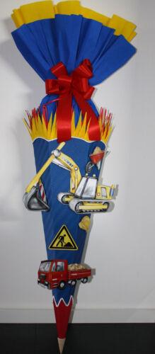 Bastelset Schultüte Bagger Baustelle Design 2 basteln Handarbeit