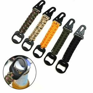 Cord Camping Survival Kit Keyring Key Chain Ring Rope Keychain Bottle Opener