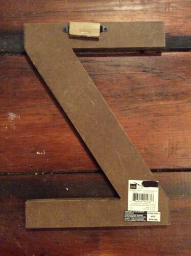 """Wooden Letter Z Unused Blue Wall Decor Hanger 12/"""" Country Distress Initials i4"""