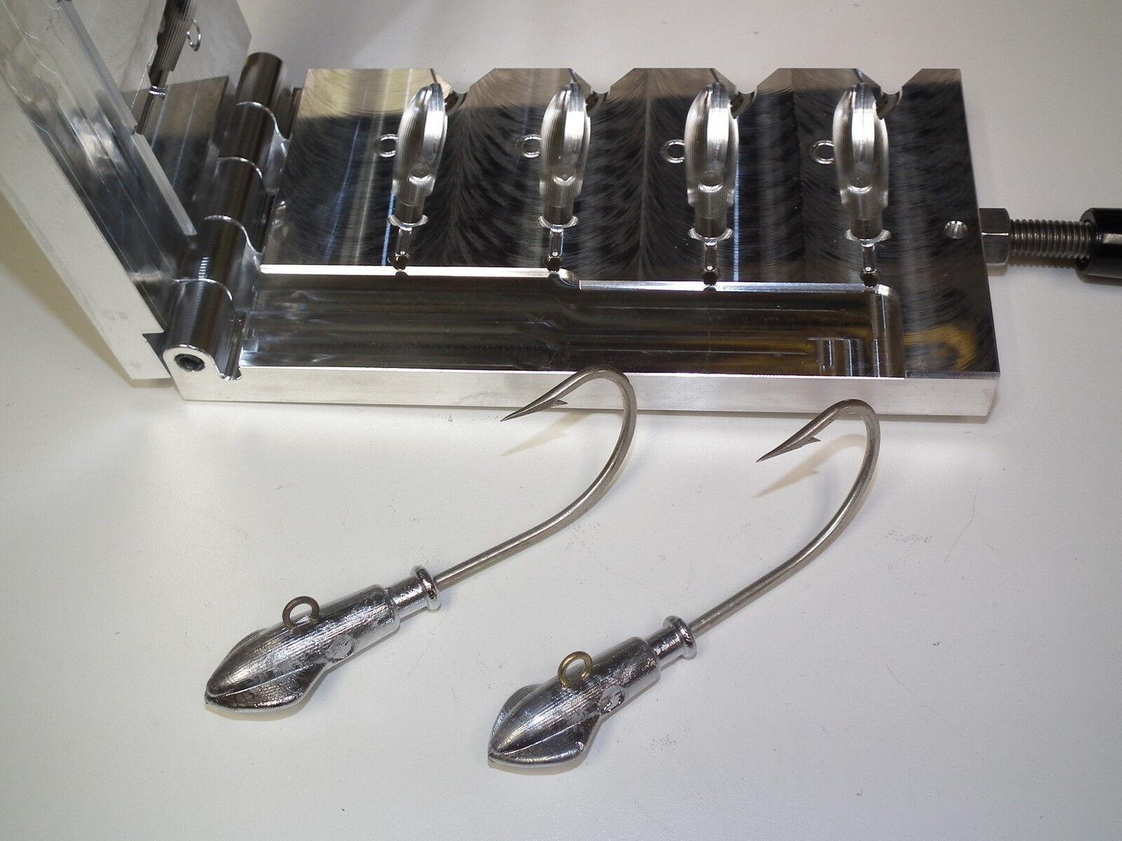 Molde de agua salada Squid Jig 2, 2, 2.5, 2.5oz CNC Aluminio Cobia Ling Limón