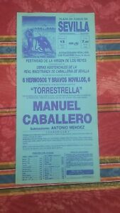 1990-Cartel-Plaza-de-Toros-Sevilla-Extraordinaria-Novillada-Manuel-Caballero