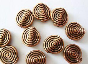 10 Metallperlen Schnecken Farbe kupfer #S267