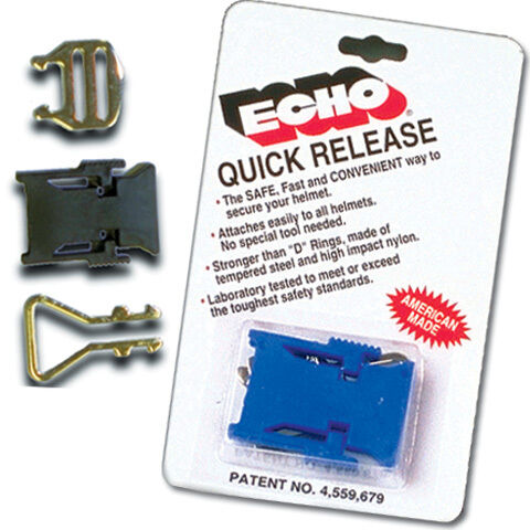 Echo Blue Motorcycle//Snowmobile Helmet Strap Quick Release Buckle DOT//Snell 2