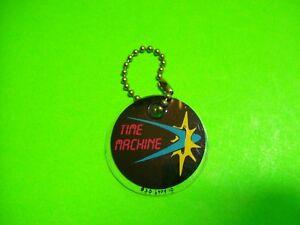 Time-Machine-Pinball-Machine-Promo-Plastic-Key-Chain-Data-East-Original-1988-NOS